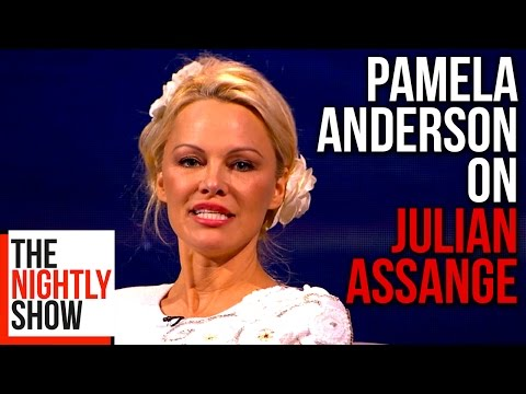 Pamela Anderson is Friends with Julian Assange. Seriously.
