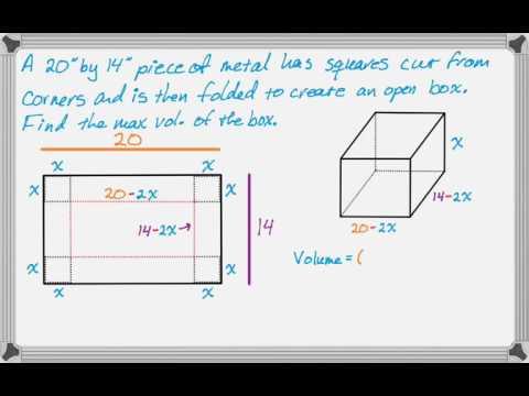 Volume Of A Folded Box Problem Youtube