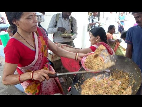 Hard Working Lady Selling Chinese Food | Egg Rice / Egg Noodles & Chicken 65 | Street Food Hyderabad