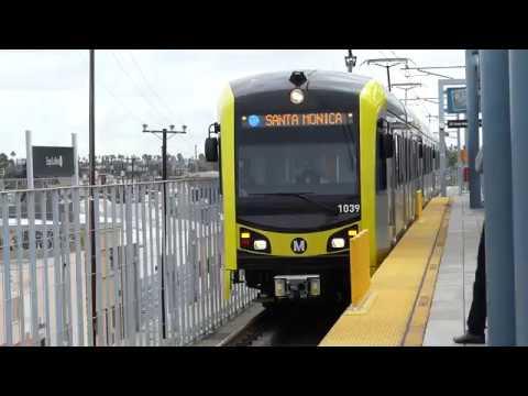 LA Metro Rail: 2014 Kinki Sharyo P3010 Expo Line at Expo/La Brea Station (Santa Monica Bound)