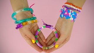Diy Straws Bracelets   Water Bracelets Tutorial