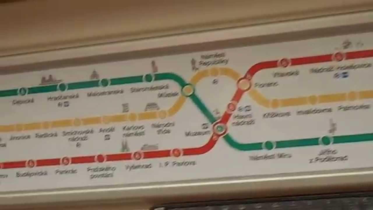 Prague Subway Mapinfo.Prague Metro Map