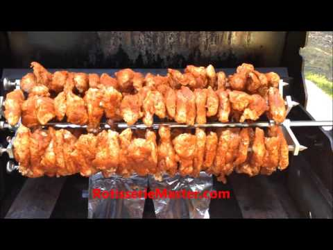 Rotisserie Master Hex-rod Add On Kit, Cooking Rotisserie Chicken Wings