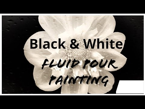 BEAUTIFUL BLACK AND WHITE FLUID PAINTINGS/Experimenting With Pouring Masters/Giveaway Update