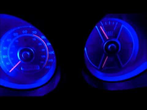 1969 1970 Classic Mustang Blue LED Gauge Light Conversion Peek - Ford, Mach 1, Shelby, Boss