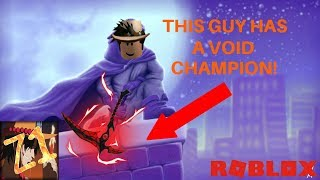 Roblox assassin vide champion - HE HAS A VOID CHAMPION! - Roblox
