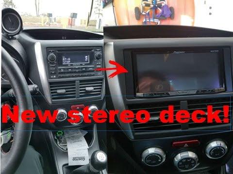 Installing a New Stereo Deck in the Subaru! (2013 Subaru