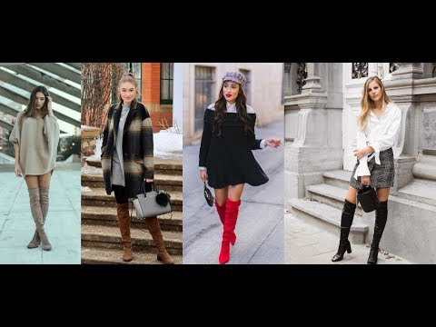 db13554dfd4 Fall 2018   Winter 2019 Over The Knee Boot Outfits LOOKBOOK - YouTube