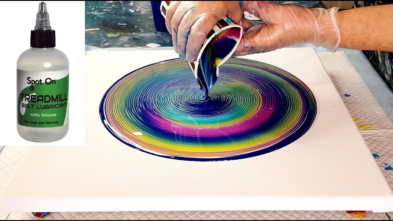 #827 Wasn't Expecting That! I Flicked Silicone Oil Onto My Acrylic Ring Pour