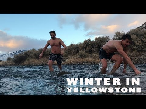 WINTER in YELLOWSTONE NATIONAL PARK {BOILING RIVER + NORDIC SKIING}