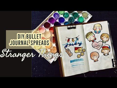 STRANGER THINGS BULLET JOURNAL SPREADS   DIY PLANNER
