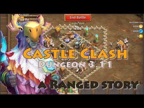 CASTLE CLASH DUNGEON 3.11 [5 RANGE HEROES]