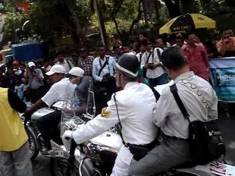 2010 Vintage Motorcycle Flagof At Mumbai Part I