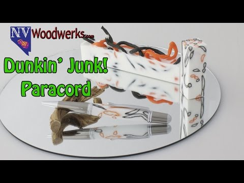 Dunkin Junk - Casting Paracord in Alumilite Resin