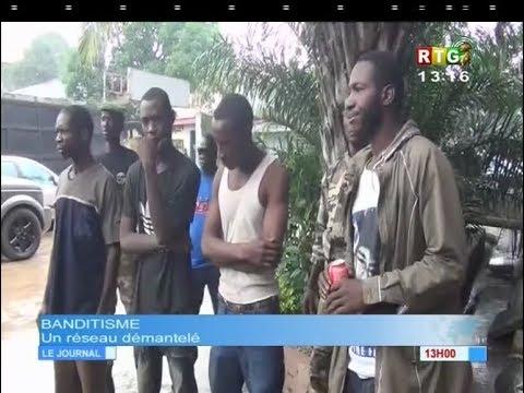 www.guineesud.com - Des présumés bandits arrêtés à Conakry : RTG du 27.08.2017