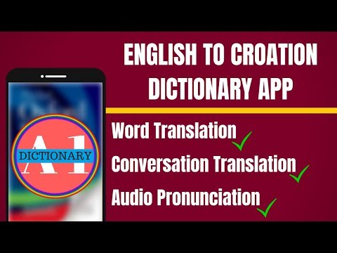 English To Croatian Dictionary App | English To Croatian Translation App