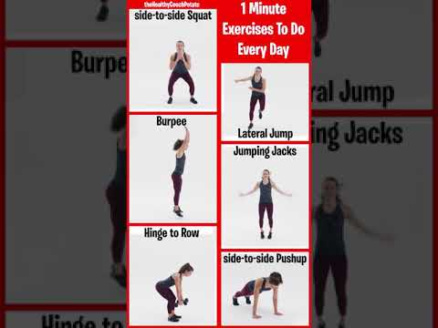 1 minute exercises to do every day at home #Shorts (home workout)