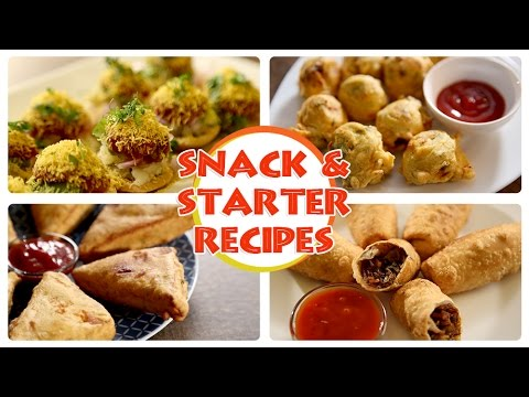 Easy To Make Snacks | Quick Party Starters | Recipes by Archana | Ruchkar Mejwani