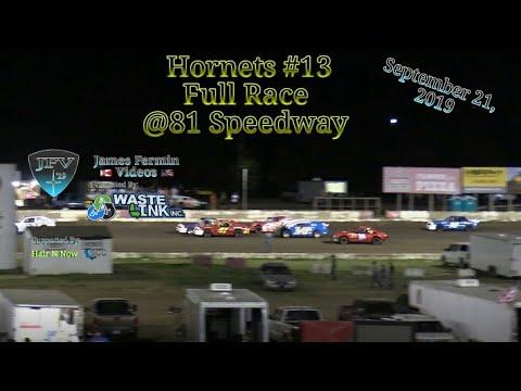 Hornets #13, Full Race, 81 Speedway, 09/21/19