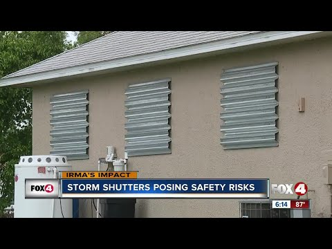 Why hurricane shutters are a fire hazard