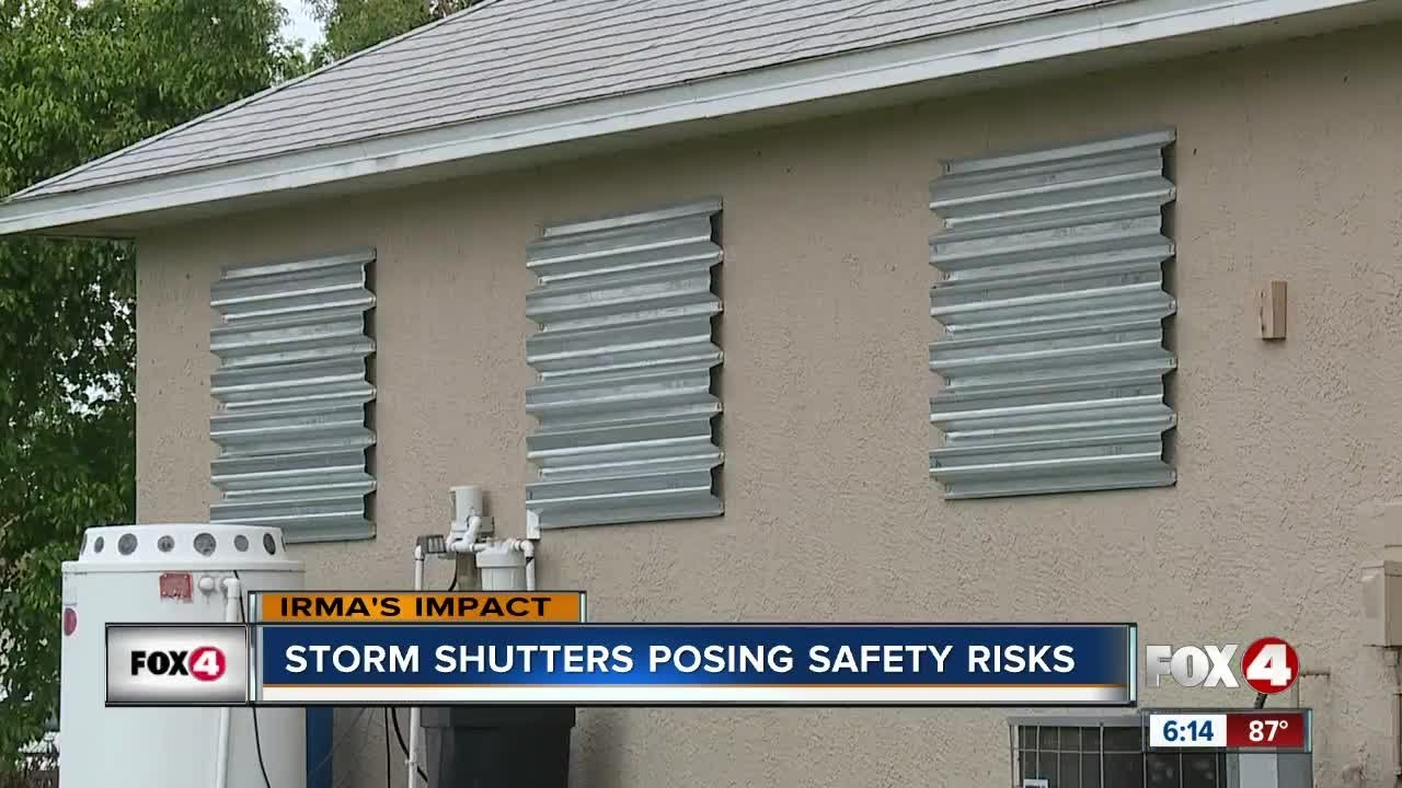 Why Hurricane Shutters Are A Fire Hazard Youtube