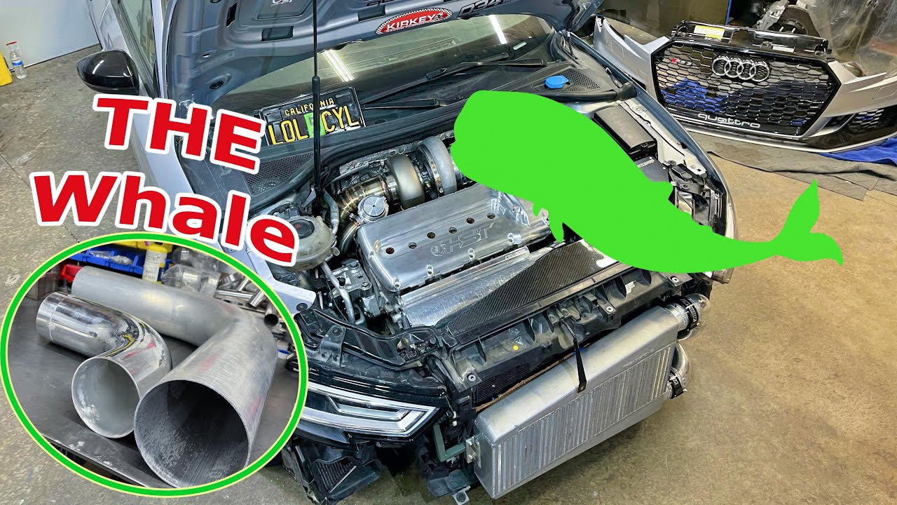 THE WHALE       --| VR6 AUDI RS3 |--   Custom Intake system FINISHED!!!!