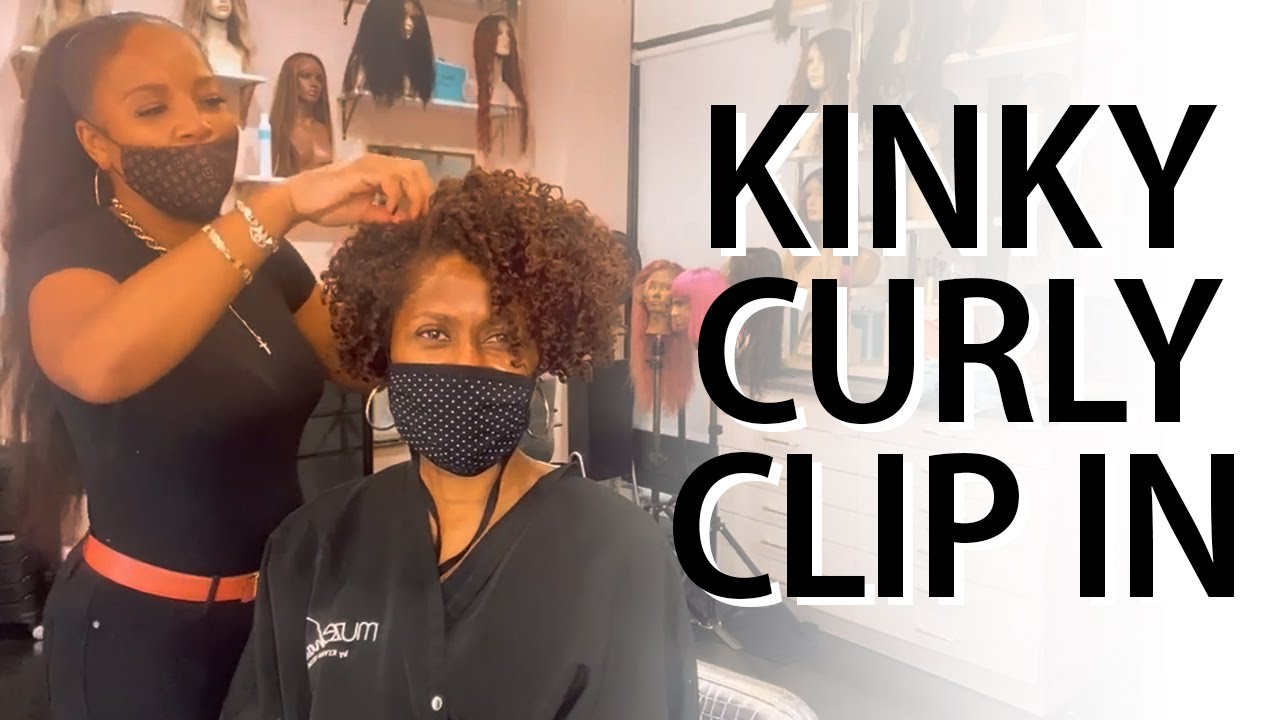Style it Wright !! KINKY CURLY CLIP-INS