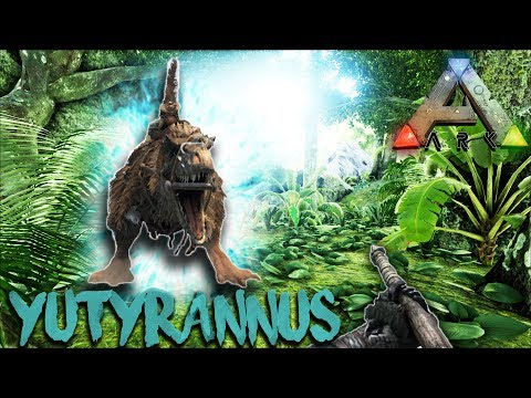 ARK | THE CENTER | YUTYRANNUS LOCATION, TAMING,  AND REVIEW | DINO BOOSTER!