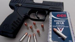 .22 LR Handgun for Self Defense?  CCI Stinger Ammo Test