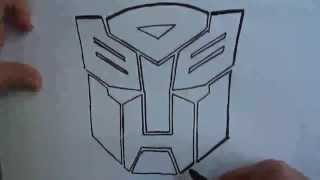 How to draw Transformer Autobots Logo Amateur drawing(Ehedov Elnur)Как нарисовать Трансформер