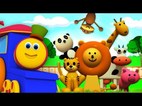 Learn Animal Names | Learning Videos For Children | Cartoons For Babies by Bob The Train