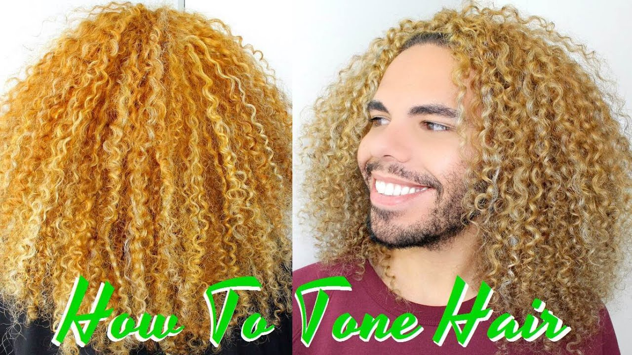How To Tone And Get Rid Of Brassy Curly Hair Remove