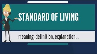 What is STANDARD OF LIVING? What does STANDARD OF LIVING mean? STANDARD OF LIVING meaning