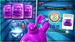 NEW ELIXIR GOLEM UNLOCKED!! 15 WIN CHALLENGE TIPS & GAMEPLAY!!