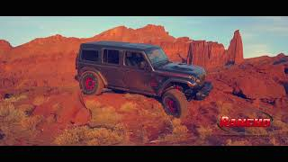 The new Jeep Wrangler JLU out in Moab Utah