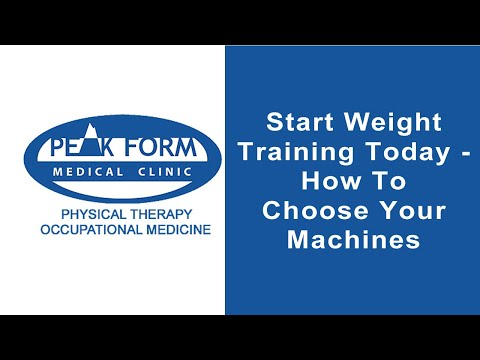 Start Weight Training Today - How To Choose Your Machines