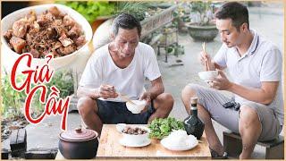 Ông Thọ Làm Thịt Giả Cầy Thơm Nức Mũi, Nhâm Nhi Ngày Se Lạnh | Fake Dog Meat Dish