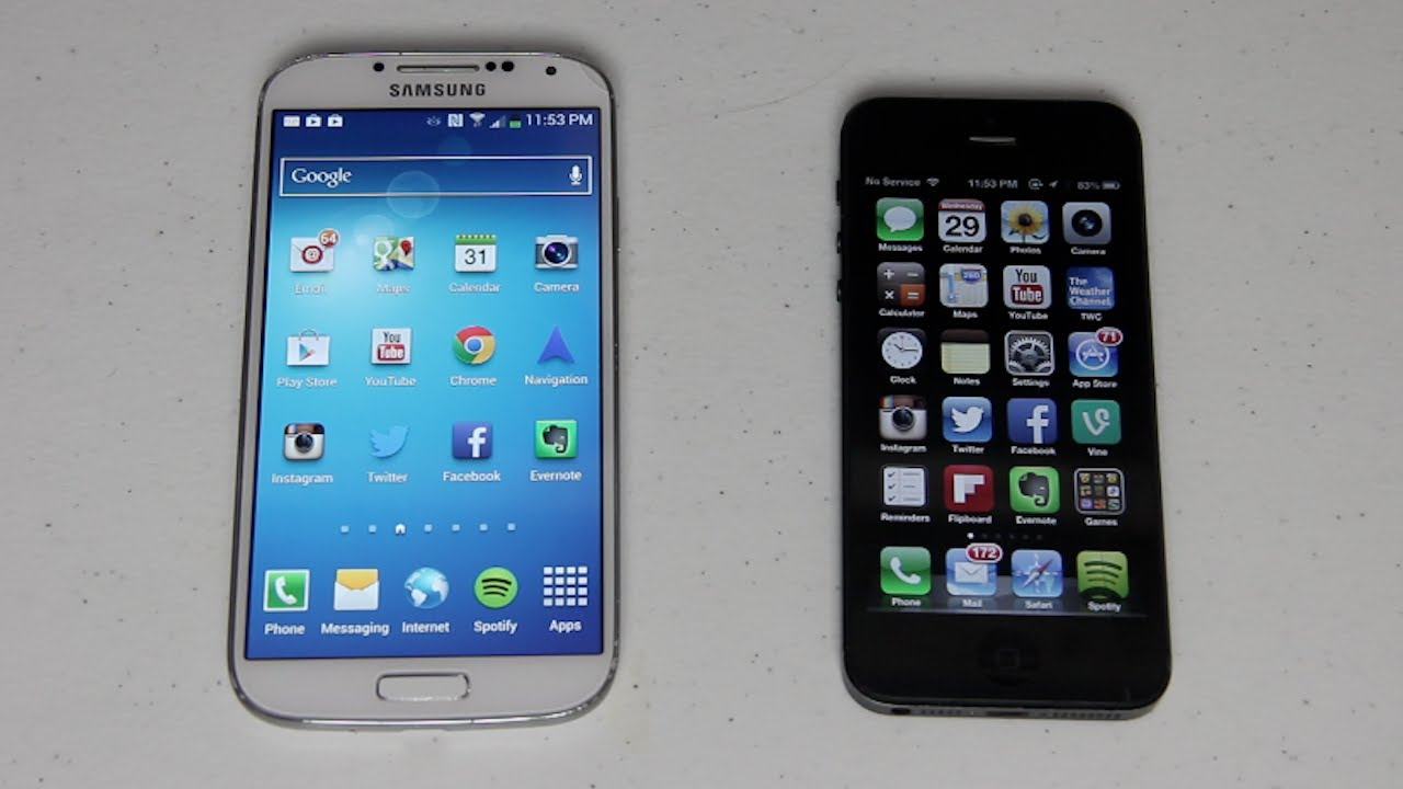 Iphone 5 Vs Galaxy S4 Video