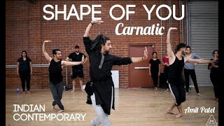 Shape of You Carnatic | Indian Contemporary | Amit Patel | Indian Raga<