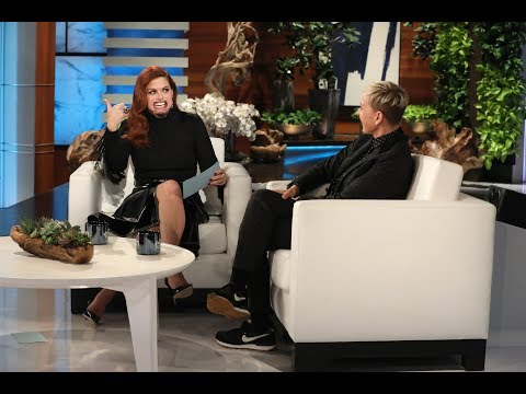 Debra Messing Plays 'Sing Out' with Ellen