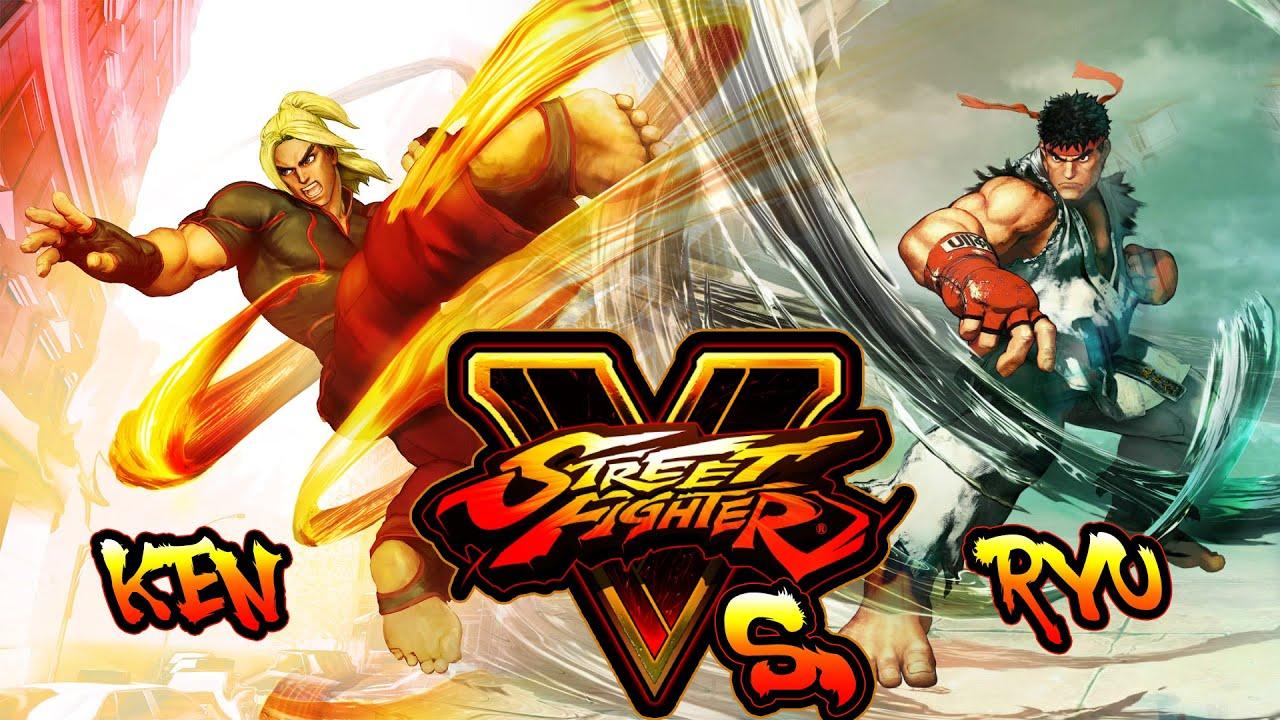 Street Fighter 5 Ken Vs Ryu Random Fight Inkl Super Art