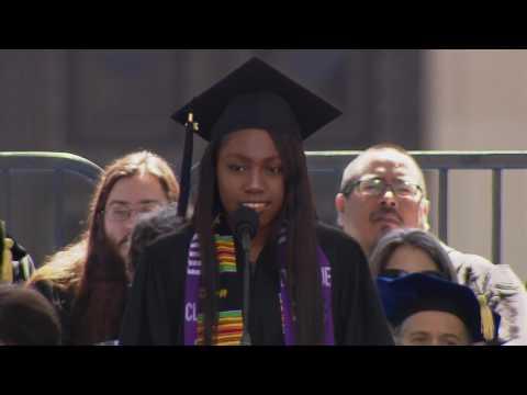 2017 Pomona College Commencement - Senior Class Speaker Dominique Curtis '17