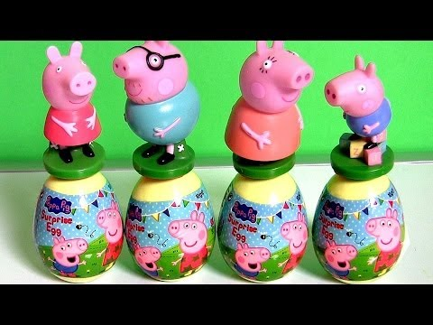 Thumbnail: New Peppa Pig Surprise Eggs Play-Doh Peppa Pig Stampers Easter 2014 Talking Plush :) 😊
