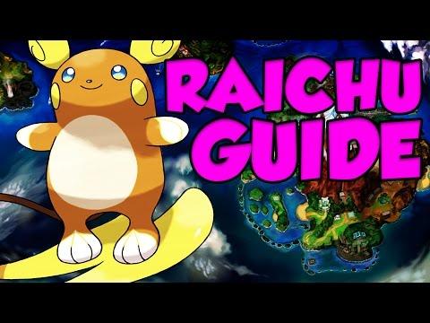 ALOLAN RAICHU GUIDE! Pokemon Sun and Moon Alolan Raichu Moveset