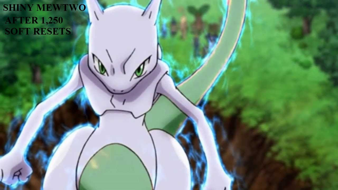 Pokemon Y Gameplay Shiny Mewtwo after 1,250 SR - YouTube