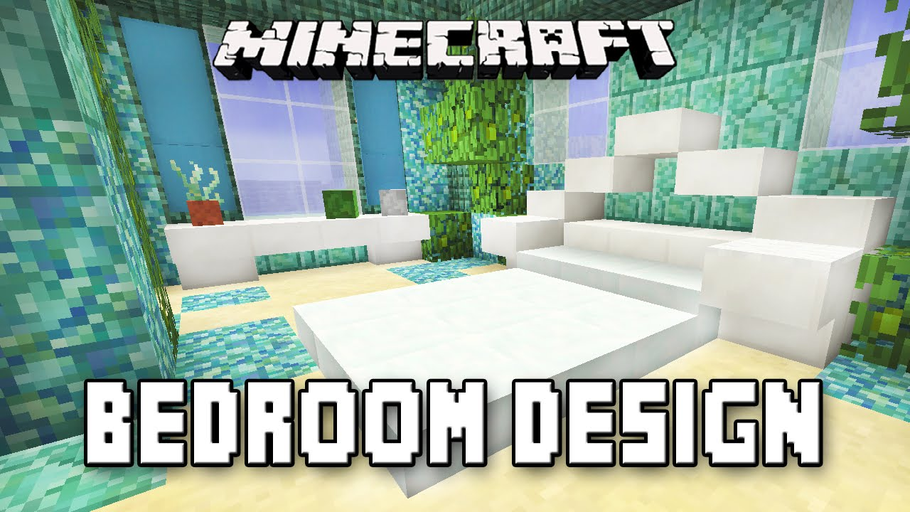 Minecraft Tutorial: How To Make A Bedroom Design (Coral ...