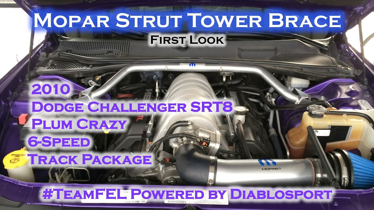 mopar strut tower brace dodge challenger srt8 p5155950. Black Bedroom Furniture Sets. Home Design Ideas