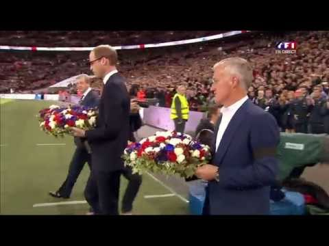 17.11.2015 - Wembley friendly match England - France national anthems