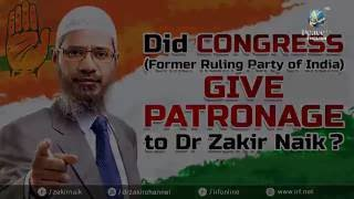 Allegation  THE CONGRESS PARTY GAVE PATRONAGE TO DR ZAKIR NAIK 640x360