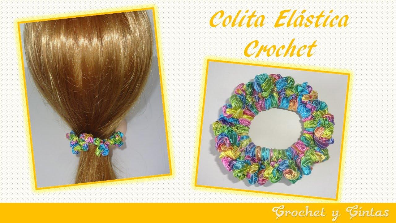 11cb589d3738 Colita - dona elástica crochet ganchillo para el cabello